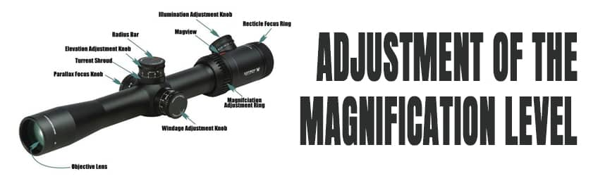Adjustment of the magnification level